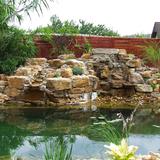 kertitó kerti tó  csobogó fürdőtó patak kertépítés gépi földmunka - 1024x768 pixel - 381086 byte